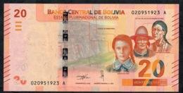 BOLIVIA P249a 20 BOLIVIANOS 2018 UNC. - Bolivië