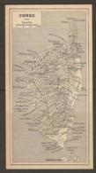 CARTE PLAN 1952 - LA CORSE BASTIA AJACCIO SARTENE CALVI CORTE POINTE De MIGNOLE - CORSICA - Topographische Kaarten