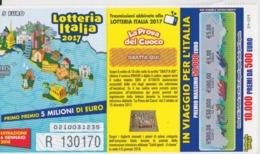 BIGLIETTO LOTTERIA ITALIA 2017 - Biglietti Della Lotteria