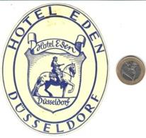 ETIQUETA DE HOTEL  - HOTEL EDEN  -DÜSSELDORF  -ALEMANIA (CON CHARNELA) - Etiquetas De Hotel