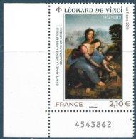 5355 Léonard De Vinci Coin Numéroté(2019) Neuf** - Frankreich