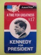 Amerivox JFK Campaign Poster KENNEDY President 1994 MINT Prépayée Prepaid Ameri Vox (CU1116 - Vereinigte Staaten