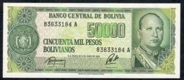 BOLIVIA P196 50.000 BOLIVIANOS 5.6.1984 UNC. - Bolivië