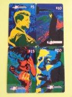 Amerivox JFK Serie 4 Cards KENNEDY President 1994 MINT Prépayée Prepaid Ameri Vox (CU1116 - Vereinigte Staaten