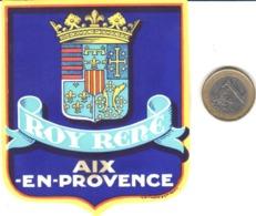 ETIQUETA DE HOTEL  - HOTEL ROY RENE  -AIX-EN-PROVENCE  -FRANCIA  (CON CHANELA) - Etiquetas De Hotel
