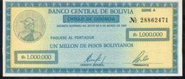 BOLIVIA P190 1.000.000 BOLIVIANOS 1985  UNC. - Bolivië