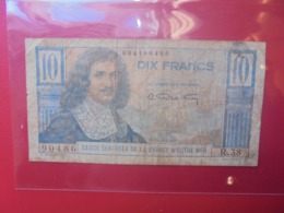 FRANCE EQUATORIALE AFRICAINE 10 FRANCS ND (1947) CIRCULER - Andere
