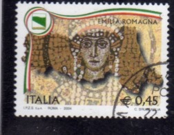 ITALIA REPUBBLICA ITALY REPUBLIC 2004 LE REGIONI EMILIA ROMAGNA USATO USED OBLITERE' - 2001-10: Usados