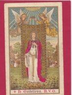 Neogotische Prent H. Godelieva - Devotion Images