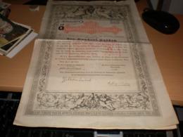 100 Gulden Staatsfchuldverfchreibung Wien 1868  Tax Stamps Vijftien Cent Rotterdam - Austria