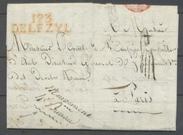 1812 Lettre Département Conquis 123/DELFZYL, Rouge + Paraphe De Franchise X4747 - 1792-1815 : Departamentos Conquistados