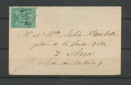 Env. Sage 5c Vert, Obl GC 4328 Jour De L'an , Superbe X4759 - Storia Postale