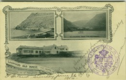 SAINT HELENA ISLAND - LOGWOOD OLD HOUSE - POSTMARK CONSOLATO ITALIANO CAPETOWN - STAMP 1900s  (BG5019) - Saint Helena Island