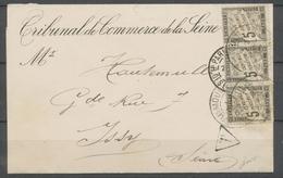 1894 Convocation Non Affranchie, Taxe Bande De 3 5c Noir Obl Issy, SUP X4799 - Marcophilie (Lettres)