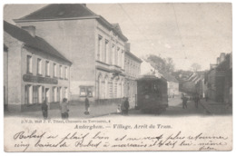AUDERGHEM VILLAGE Non Divisé TRAM 1906 Arrêt Du Tram Motrice 689 Estaminet Salle D'Harmonie AU COMTE DE FLANDRE Tramway - Oudergem - Auderghem
