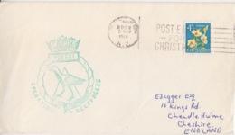 Polaire Néozélandais, N° 388 (puarangi) Obl. Flamme (Christmas) Dunedin Le 5 NO 64 + Cachet Deep Freeze, Pukaki - Lettres & Documents