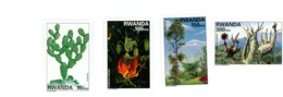 Rwanda 1998-Cactus,hibiscus,arbres-1403/6***MNH - Cactus