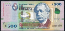 URUGUAY P97 500 PESOS URUGUAYOS 2014 Signature 30 Serie E      AU-UNC. - Uruguay
