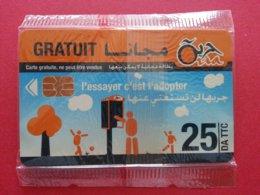 ALGERIE Oria 25 DA GRATUIT Carte Gratuite Demo Essai NSB Neuve Blister (BA1019C - Algerien