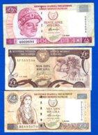 Chypre  3  Billets  Dans  L'etat - Chipre