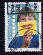 ITALIA REPUBBLICA ITALY REPUBLIC 2004 GIORNATA DELLA FILATELIA STAMP DAY € 0,45 USATO USED OBLITERE' - 2001-10: Usados