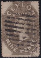 Ceylon    .    SG   .    33b        .     O        .       Cancelled     .   /   .  Gebruikt - Ceylon (...-1947)