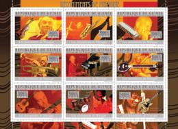 Guinea 2010 MNH - Musical Instruments (Violin, Piano, Guitar). YT 4642-4650, Mi 7293-7297 - Guinee (1958-...)