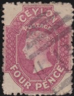 Ceylon     .    SG   .     65       .   O      .      Cancelled      .   /   .   Gebruikt - Ceylon (...-1947)