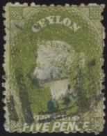 Ceylon     .    SG   .     66       .   O      .      Cancelled      .   /   .   Gebruikt - Ceylon (...-1947)