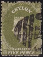 Ceylon     .    SG   .     66b       .   O      .      Cancelled      .   /   .   Gebruikt - Ceylon (...-1947)