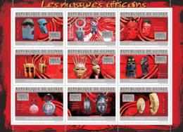 Guinea 2010 MNH - The Masks Of Africa (Dogon, Malinke, Dan). YT 4669-4677, Mi 7319-7327 - Guinea (1958-...)