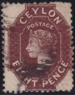 Ceylon     .    SG   .     68       .   O      .      Cancelled      .   /   .   Gebruikt - Ceylon (...-1947)