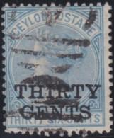 Ceylon     .    SG   .     169X  Wmk Reversed        .   O      .      Cancelled      .   /   .   Gebruikt - Ceylon (...-1947)