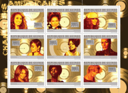 Guinea 2010 MNH - American Singers (Alicia Keys, Tina Turner). YT 4750-4758, Mi 7329-7337 - Guinea (1958-...)