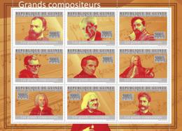 Guinea 2010 MNH - The Great Composers II, (A.Dvorak.. Johann Strauss). YT 4831-4839, Mi 7228-7236 - Guinea (1958-...)