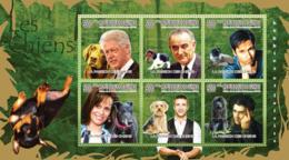 Guinea 2010 MNH - Dogs & Their Masters (Labrador, Beagle, Fox-terrier, Yorkshire Terrier). YT 4906-4911, Mi 7529-7534 - Guinea (1958-...)
