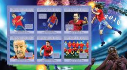 Guinea 2010 MNH - World Football Cup - South Africa 2010 (Spain). YT 5032-5037, Mi 7660-7665 - Guinée (1958-...)