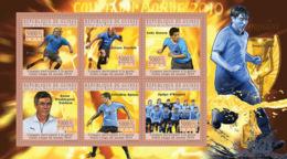 Guinea 2010 MNH - World Football Cup - South Africa 2010 (Uruguay). YT 5026-5031, Mi 7648-7653 - Guinée (1958-...)