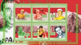Guinea 2010 MNH - Fausto Coppi (1919-1960), Cycling. YT 5110-5115, Mi 7732-7737 - República De Guinea (1958-...)