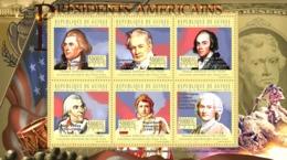 Guinea 2010 MNH -The Presidents Of USA- Thomas Jefferson (1743-1826). YT 5218-5223, Mi 7877-7882 - Guinée (1958-...)