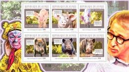 Guinea 2010 MNH - Astrological Sign Of The Pig. YT 5200-5205, Mi 7847-7852 - Guinea (1958-...)