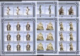 YY063 2001 MOZAMBIQUE ART PAINTINGS SCULPTURES MICHELANGELO !!! 9SET MNH - Escultura