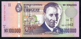 URUGUAY P71 100.000 NUEVOS  PESOS  1991 Serie A UNC. - Uruguay