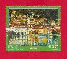 ITALIA REPUBBLICA USATO - 2014 - TURISMO - Lovere - € 0,70 - S. 3497 - 6. 1946-.. Republic