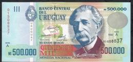 URUGUAY P73 500.000 NUEVOS PESOS 1992 Serie A      UNC. - Uruguay