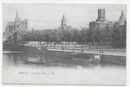 (RECTO / VERSO) AMIENS EN 1902 - N° 51 - LE VIEUX PORT ANIME - BEAU CACHET - CPA PRECURSEUR VOYAGEE - Amiens