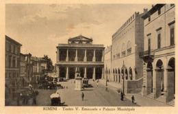 RIMINI-TEATRO V.EMANUELE E PALAZZO MUNICIPALE-TRAM - Rimini