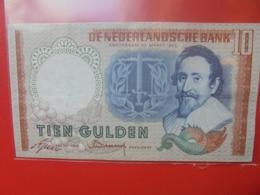 PAYS-BAS 10 GULDEN 1953 BONNE QUALITE CIRCULER - [2] 1815-… : Koninkrijk Der Verenigde Nederlanden