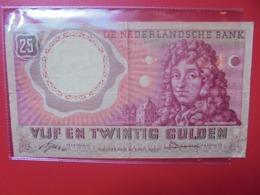 PAYS-BAS 25 GULDEN 1955 CIRCULER - [2] 1815-… : Regno Dei Paesi Bassi