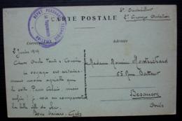 Dépôt Personnel Technique Aviation 1919 Cachet Sur CPA De Sens Pour Besançon - Storia Postale